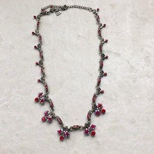 Cookie Lee Red Rhinestone Necklace